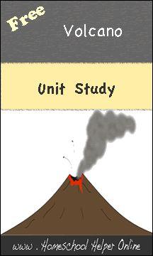 Free Volcanoes Unit Study - Homeschool Helper Online