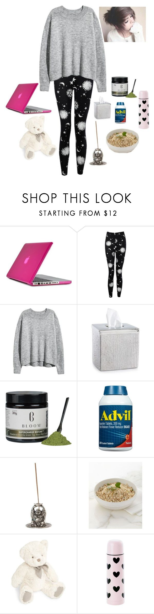 """""""Sick Day.."""" by grey-daray ❤ liked on Polyvore featuring Speck, Boohoo, H&M, Croscill, Juliska, Gund and Miss Étoile"""