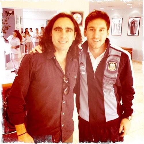Juan Pablo Sorin (izqda.), 'barçargentino' durante 4 meses en 2003, junto a Lionel Messi, el gran embajador del Barça y de Argentina en el mundo desde hace varios años.