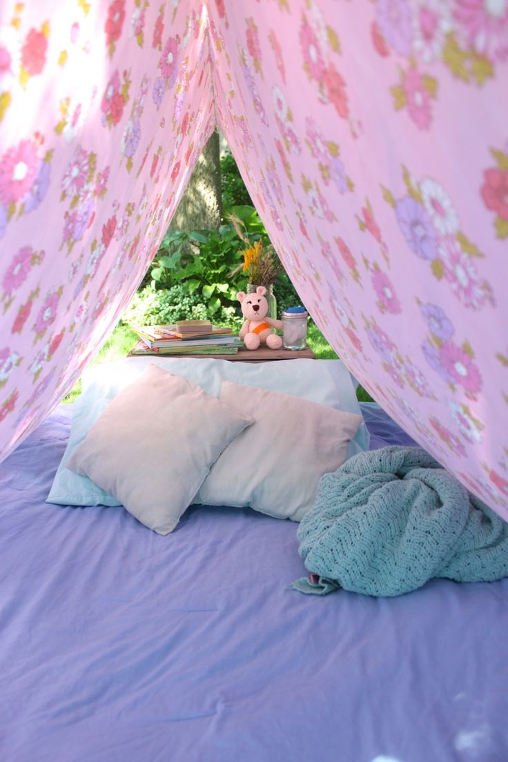 Simple Bed Sheet Tent for Kids