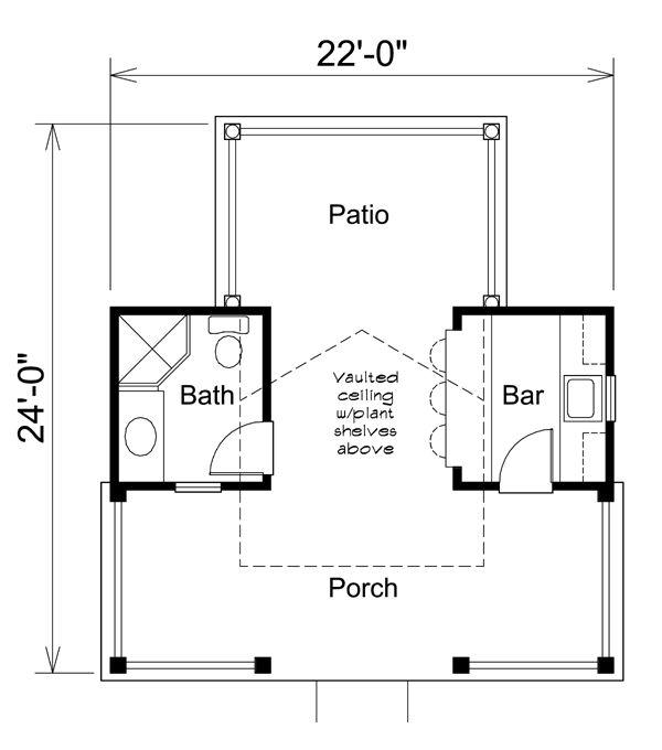 Poolhouse Plan 95938 at FamilyHomePlans.