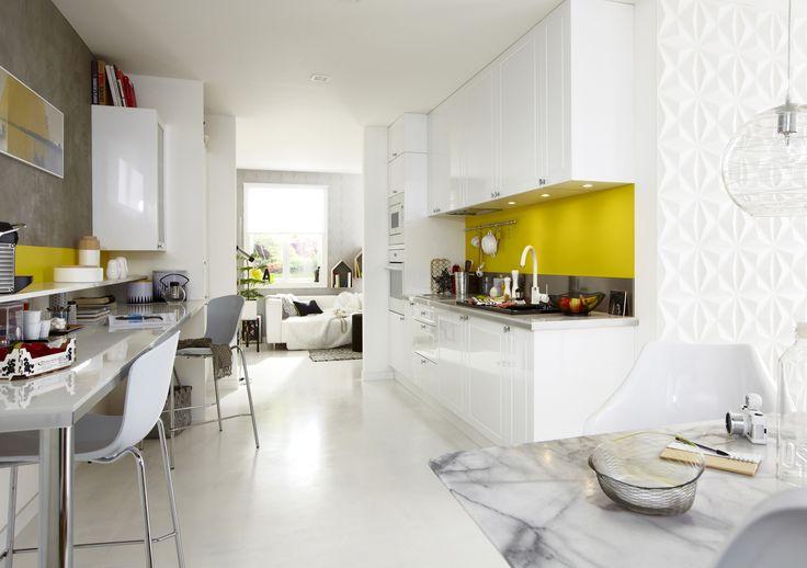 Les 312 meilleures images du tableau cuisine sur pinterest for Cuisine ouverte jaune