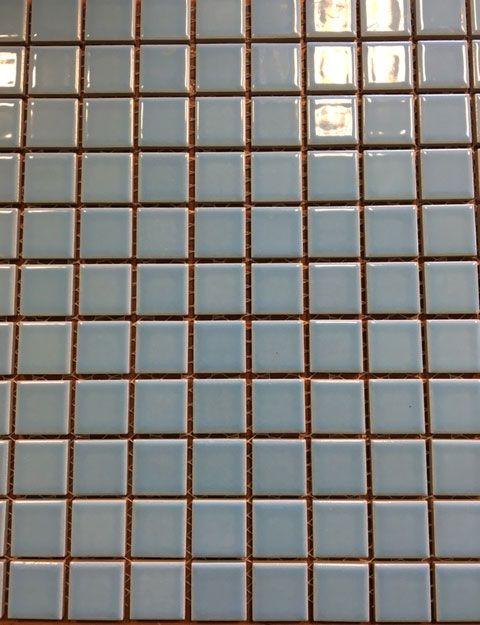 Keramische mozaiek pastel blauw 2,5 x 2,5