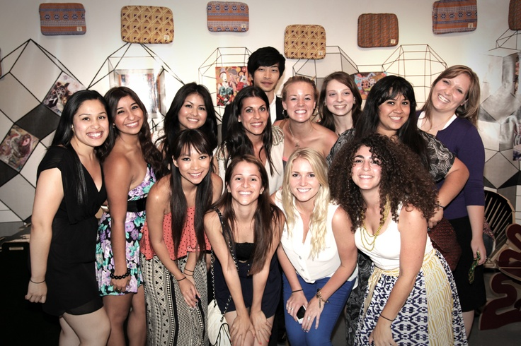 The LA intern team at a party for the Apple Launch!!: International Team, La International
