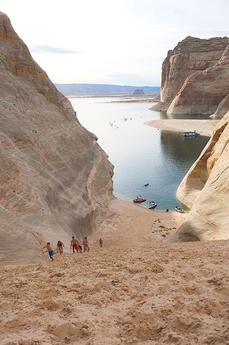 Arizona  Read this blog post. Looks AMAZING!  Lake Powell - rent houseboat?