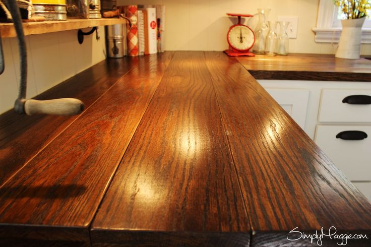 Butcher Block Countertops Price : DIY Wide Plank Butcher Block Countertops www.SimplyMaggie.com For ...