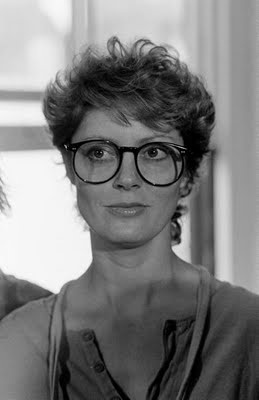 Susan Sarandon, 1982. The oversized circular frames are very IN!