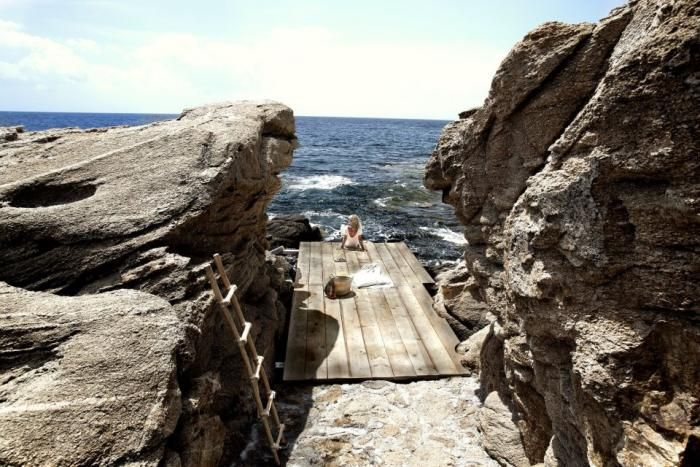 Bohemian Paradise Found: A Pop-Up Hotel in Mykonos: Mykonos Greece, The Ocean, Designhotel, Sangiorgio, Sea, Giorgio Hotels, San Giorgio, Rocks, Design Hotels