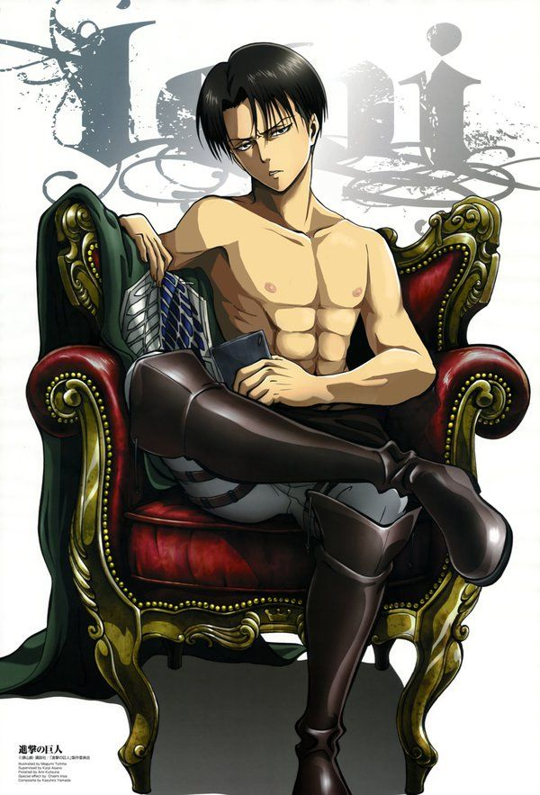 SnK -Shirtless Levi by ElisaCosplay on deviantART