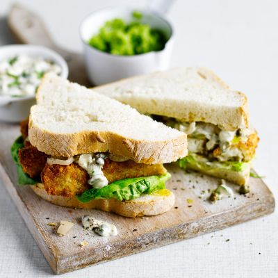 A winter warmer for the whole family, these fish finger sandwiches make for an easy indulgence.
