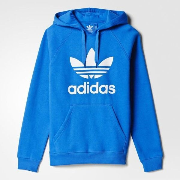 adidas Trefoil Hoodie ($65) ❤ liked on Polyvore featuring tops, hoodies, fleece sweatshirt, hooded pullover, fleece hooded sweatshirt, pullover hooded sweatshirt and hoodie sweatshirts