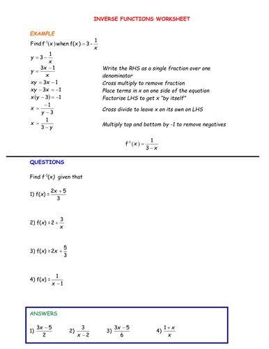 63 Best Maths Functions Secondary School Images On Pinterest