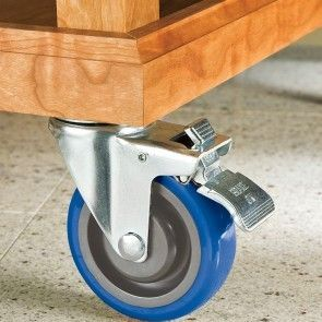These smooth-rolling casters support up to 265 lbs. each and come in five unique styles. Soft-yet-resiliant polyurethane wheels ride easily on everything from concreteto carpet and coolly skim over cracks, cords and other small obstacles.