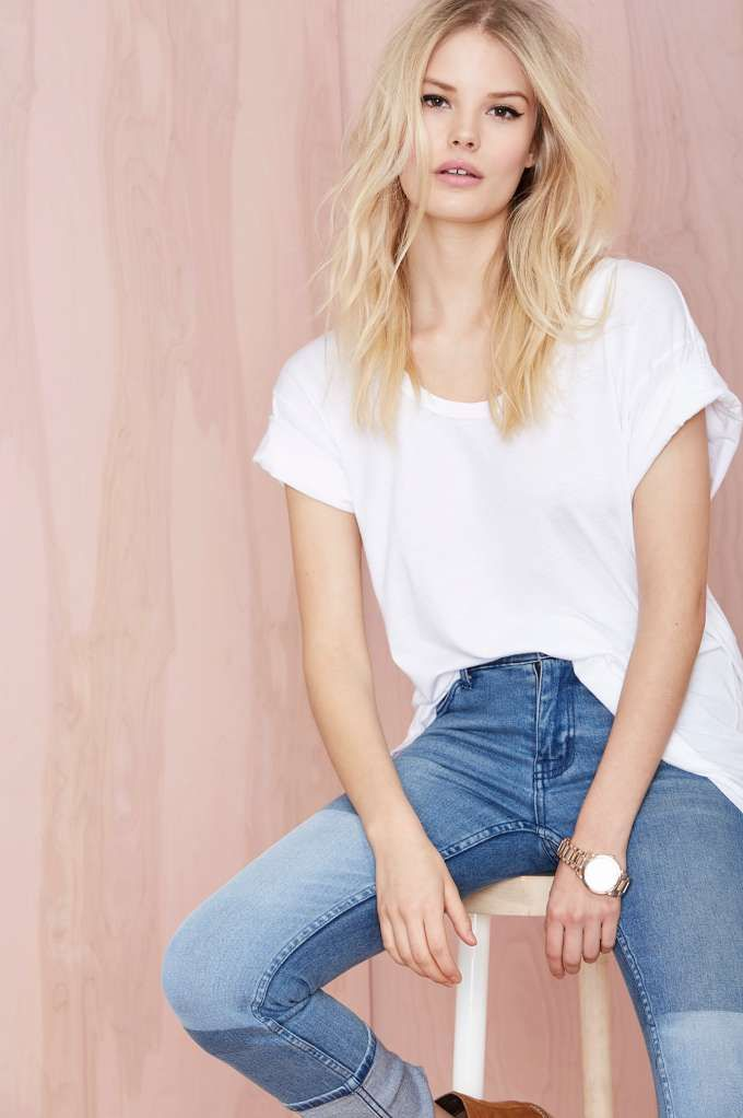 New Boyfriend Tee - White at Nasty Gal...can I find a tee like this that's less than $42?