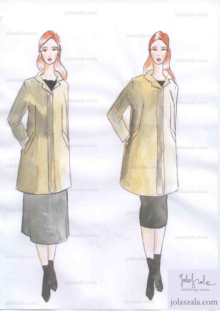 - Kurtka o przedłużonej linii (krótki płaszcz) również powinna być noszona z wąską spódnicą lub spodniami. Istotny jest kolorystyczny dobór rajstop, by nie tworzył się nadmiar poziomych, granicznych linii.. W tym przypadku należy dobrać rajstopy w ciemnym kolorze, w barwach butów i spódnicy. on Jola Szala - Siła kobiecego ubrania  http://jolaszala.com/porady-joli/kurtka-dla-tezszej-sylwetki/#sg2