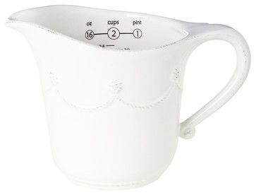 Berry and Thread Measuring Cup - Whitewash - transitional - Measuring Cups - Bliss Home & Design