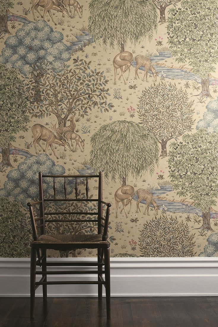 The Brook wallpaper by William Morris.
