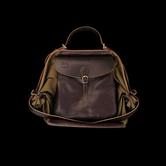 I have this in black I got it in Paris around 10 yers ago- I love this color   il bisonte The Maremmana Backpack in Dark Brown Angle4