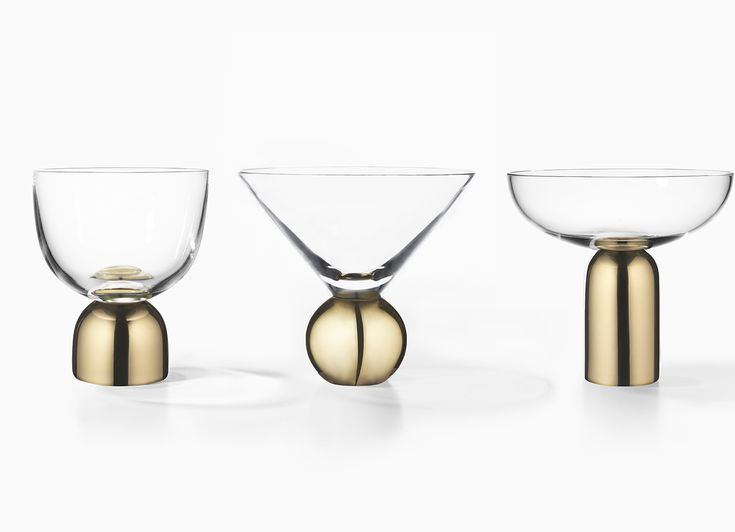 Glass on Brass - Wine, Martini & Champagne Coupe | #LeeBroom