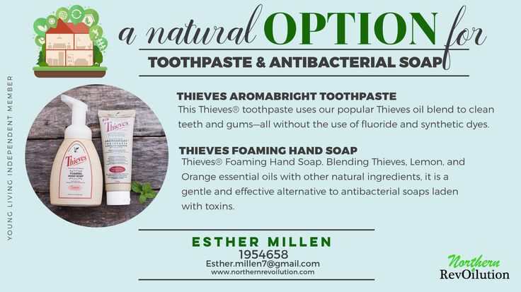 Toxins are fastest absorbed through the mouth. What's toxins are in your toothpaste?   Natural option for toothpaste and hand soap!