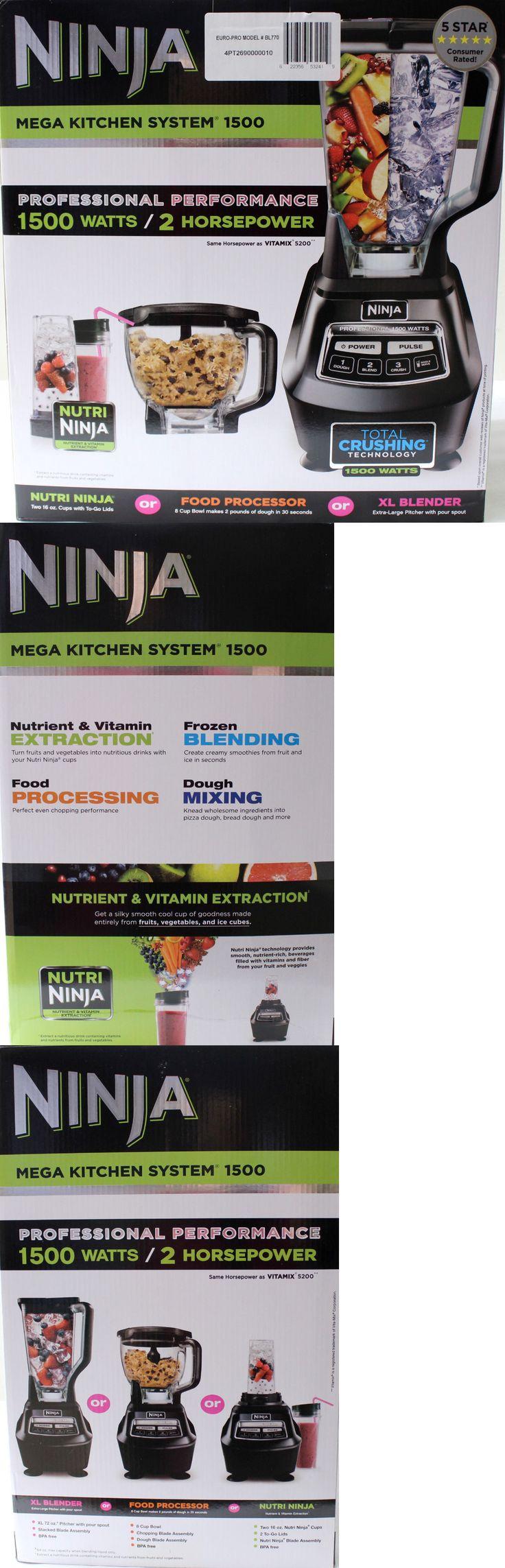 Food Processors 20673: Ninja Mega Kitchen System Bl770 Blender Food Processor Mixer 1500 Watt New -> BUY IT NOW ONLY: $159.99 on eBay!