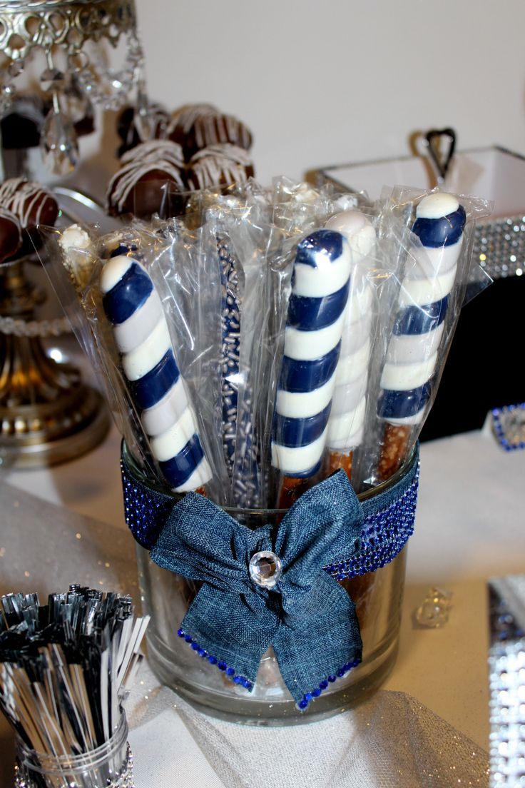 Chocolate Covered Pretzels Denim Amp Diamonds Candy Table