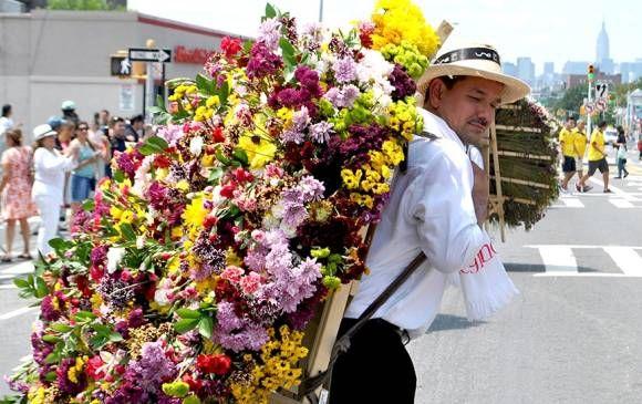 El Desfile de Silleteros de Medellín y la Feria de las Flores son ahora parte del legado cultural de Nueva York. Foto ColombiaNewYork.com