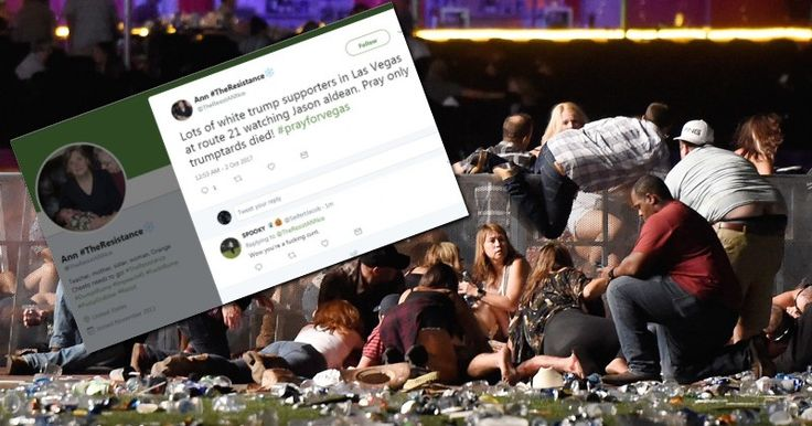 """Leftists Celebrate """"White Trump Supporters"""" Being Killed in Las Vegas Massacre Alex Jones' Infowars: There's a war on for your mind! https://www.infowars.com/leftist-teacher-celebrate... Despicable reaction to America's deadliest mass shooting ever"""