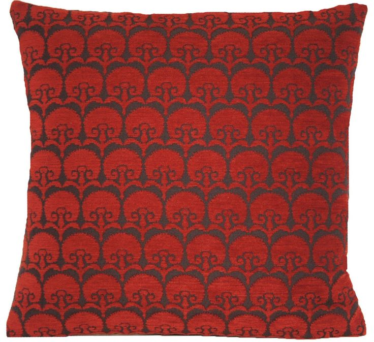 Deep Red Cushion Cover Carnation Pillow Throw Case Woven Fabric Osborne & Little Cotton Textile by CoralHomeAccessories on Etsy https://www.etsy.com/listing/197260797/deep-red-cushion-cover-carnation-pillow