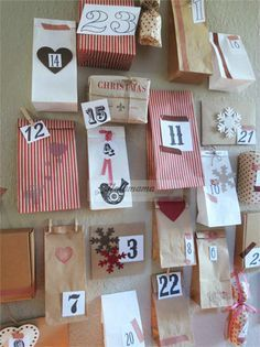 #advents calender #calendario de adviento #diy