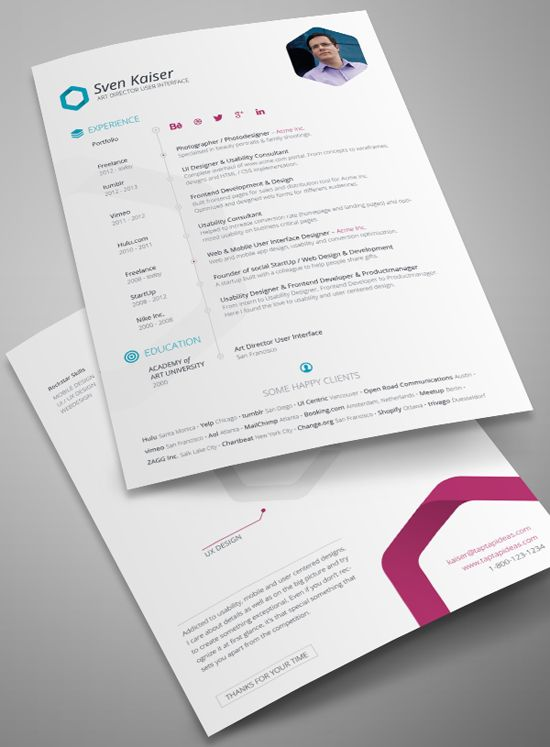 82 best Resume Templates   Plantillas images on Pinterest Free - graphic design resume template
