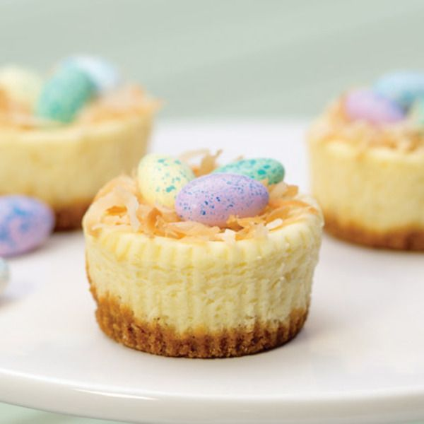 Easter Mini Cheesecakes   recipe from Kraft Canada