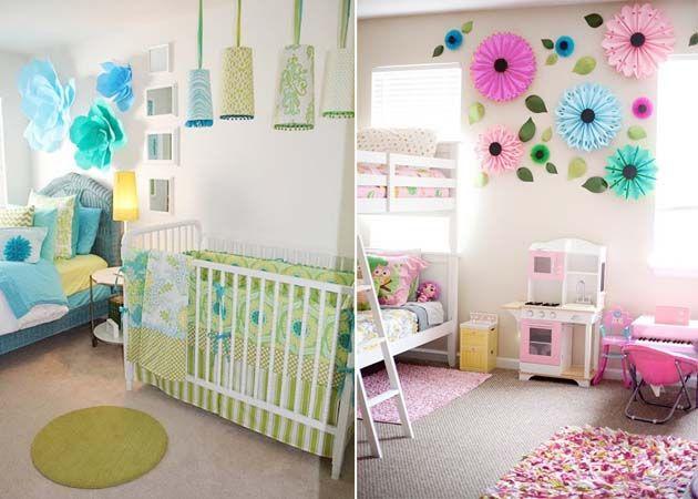 Бумажные цветы в детской. Цветочная детская комната | http://www.babyroomblog.ru/