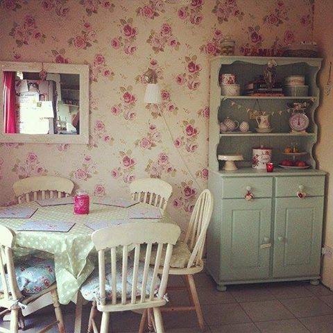 60er Jahre, Wohnen, Landleben, Hütte Chic, Landhausstil Eingerichtet,  Vintage Küche, Shabby Chic Esszimmer, Romantische Shabby Chic, Halle