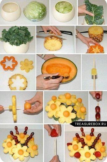 Como hacer un arreglo de frutas