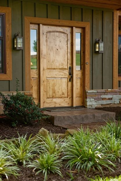 Knotty pine entry door