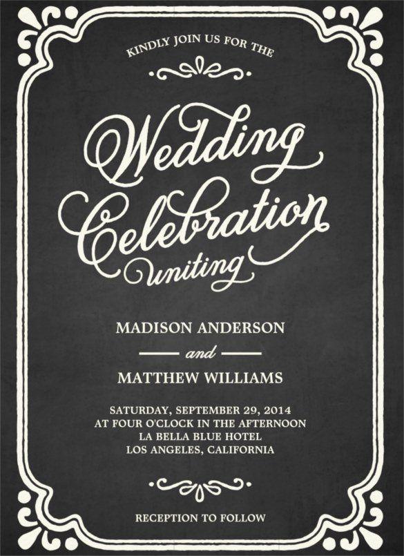 Chalkboard Wedding Invitation Template Free Beautiful 26 Chalkboard Wedding Invi Wedding Invitation Templates Chalkboard Wedding Invitations Chalkboard Wedding