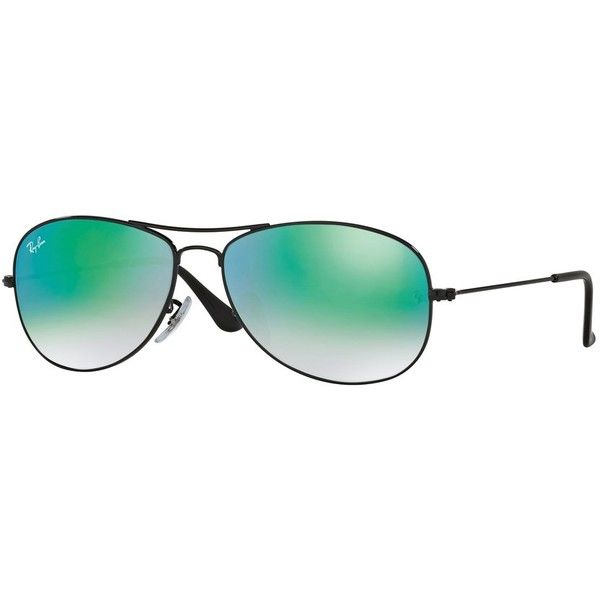 Ray-Ban Ray-Ban Rb3362 Cockpit Sunglasses | Bluefly.Com (460 BRL) ❤ liked on Polyvore featuring men's fashion, men's accessories, men's eyewear, men's sunglasses, black, mens aviator sunglasses and ray ban mens sunglasses