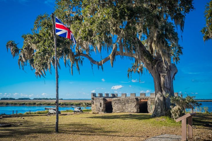 Fort Frederica National Monument protects what is left from a fort and town built by James Oglethorpe around 1736 in what was then on the edge of British settlements but considered disputed lands by Spain. This lovely property, dotted with lovely live oaks and a beautiful view of St. Simons Island, preserves some of the oldest parts of American history. 📍: Fort Frederica NM, St. Simons Island, GA #fortfrederica #nationalmonument #nps #nationalpark #nationalparks #GA