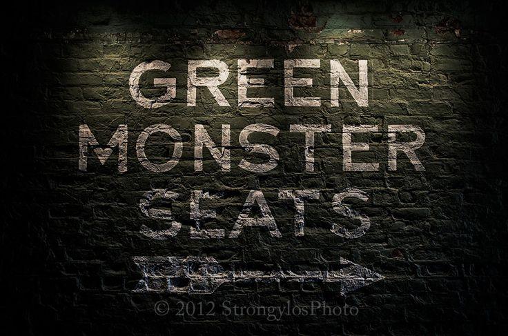 Fenway Park, Green Monster Seats, Boston Red Sox, 11x16.5, sports, baseball. $45.00, via Etsy.
