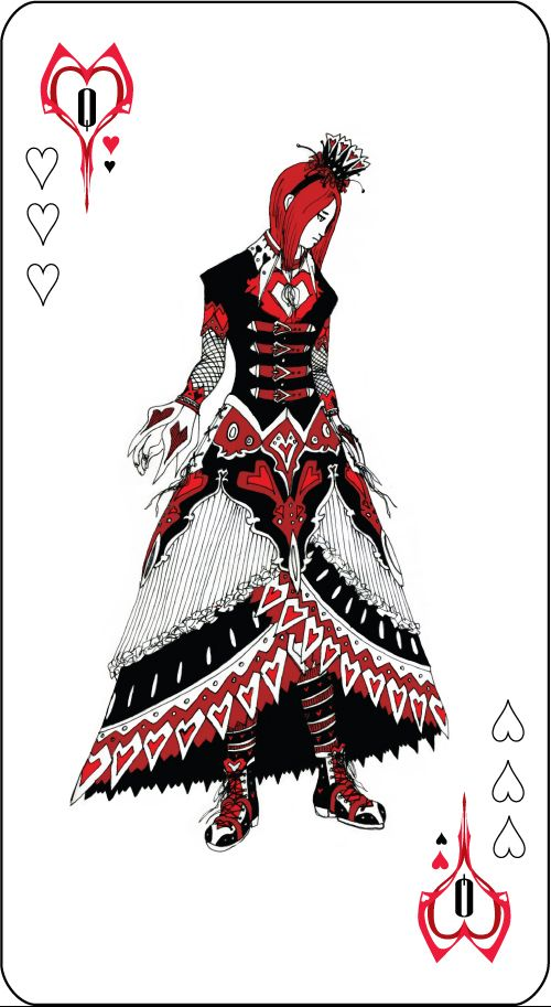 I'm dressing up kind of like the Queen of Hearts for a friend's medieval b-day party tonight <3