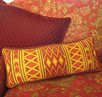 North African Kilim stripe pattern (Morocco Stripe) in many sizes and colors in the cross-point TM kit collection