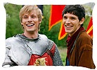 Colin Morgan and Bradley James as Merlin and King Arthur