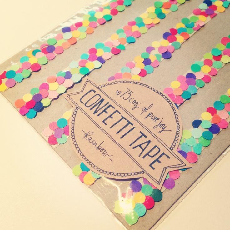 Pretty Handmade Rainbow Confetti Tape. $7.00, via Etsy.