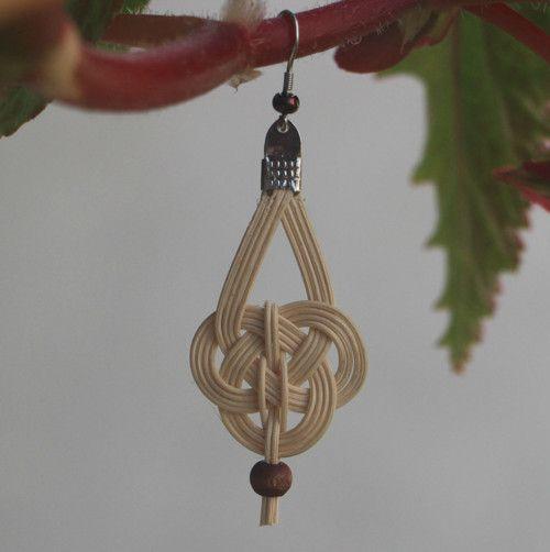 Keltské krásky II. :o), rattan weaving earring, tree beads, celtic, woven