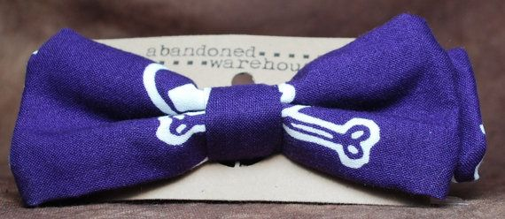 Purple Pirate bow bow tie / hair bow by AbandonedWarehouse on Etsy