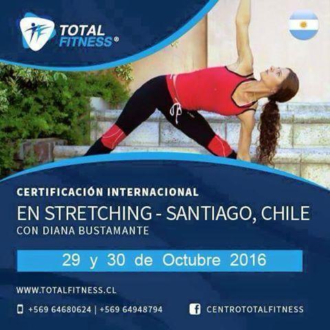 CertificSTRETCHING CHILE En octubre nuestra escuela de fitness trae a Chile a una especialista y referente internacional de Stretching. Stretching: El programa de flexibilidad adaptado a la salud.