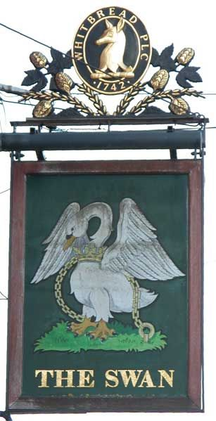 The Swan Tavern Sign - click to enlarge