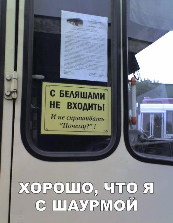 объявление в автобусах картинки папа был