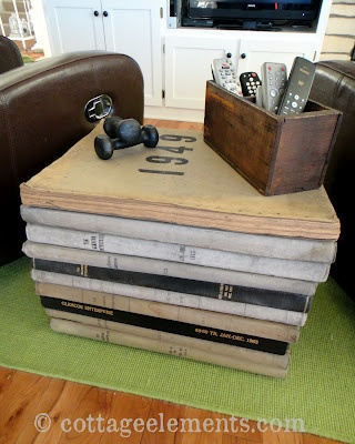 Sidetable Made Of Old Newspaper Books Stacked Up!